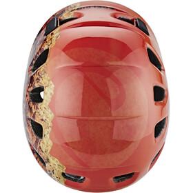 Edelrid Shield II Helm Kinderen oranje/rood